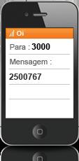 c75beb109c Se você já faz recarga pelo Menu Oi e para o seu próprio número, chegou uma  forma mais simples de recarregar! Basta enviar um SMS para o número 3000  com o ...
