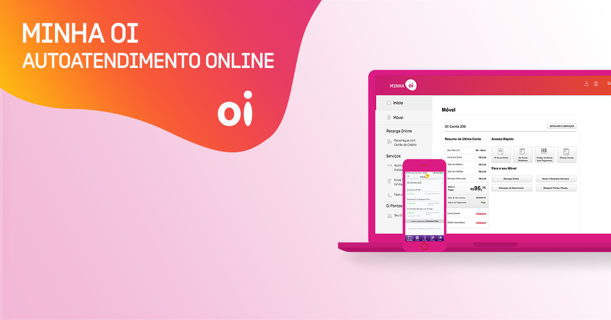 Minha Oi: Autoatendimento Online com 2ª via de conta e muito mais!