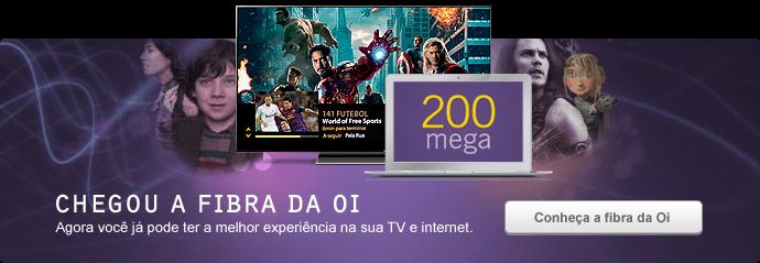 Com a fibra da Oi você tem a melhor experiência de TV e as maiores velocidades de internet na sua casa.