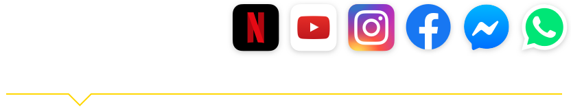 50 GB + Netflix, Youtube, Instagram, Facebook, Messenger e Whatsapp